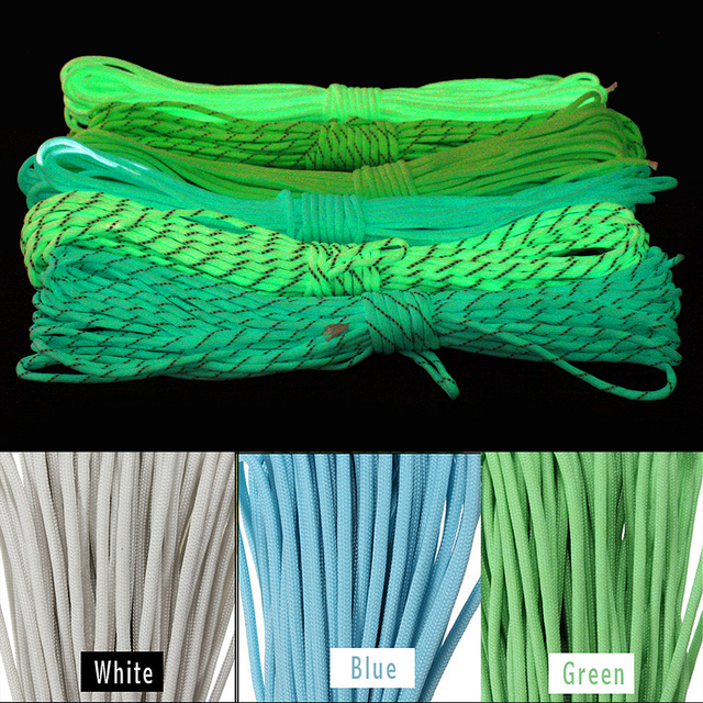 Luminous Reflective Paracord 550 Type III 7 Strand 16.5ft