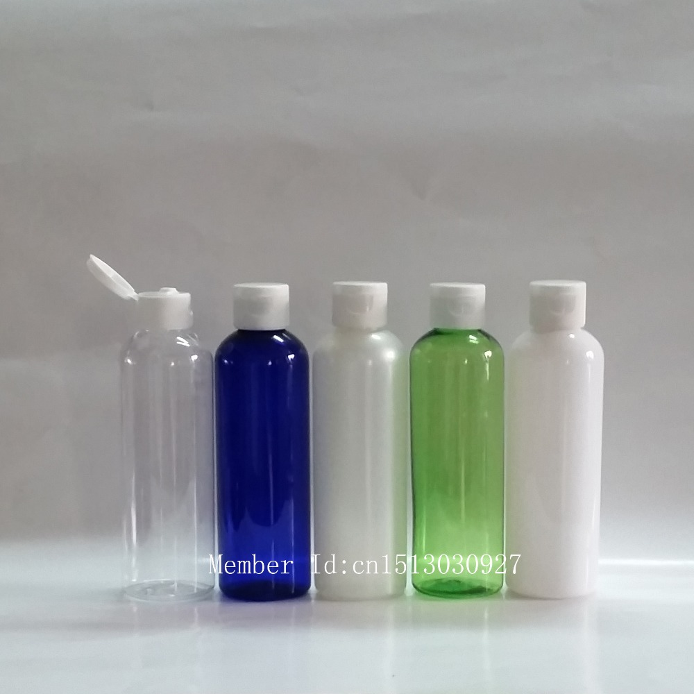 200ML empty plastic travel container bottle with flip top cap,sample bottles for cosmetic packaging(China (Mainland))