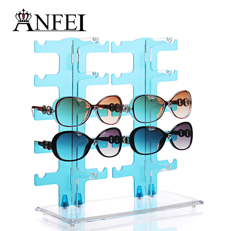 For 10X Eyeglasses Sunglasses Frame Plastic Glasses Display Rack Stand Holder easy installation and good portability(China (Mainland))