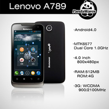 Original Lenovo A789 MTK6577 Dual Core 4GB ROM 5.0MP Camera 3G WCDMA GPS WIFI Russian Multi Language Mobile Phone(China (Mainland))