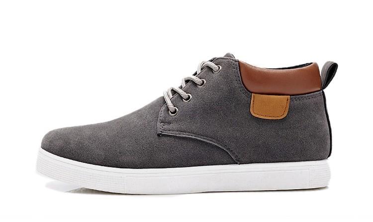 Yeni Sıcak Satış Erkekler Ayakkabı Rahat Dantel Kadar Yüksek Üst Erkekler Rahat Ayakkabılar Erkekler Için Sıcak Kış Ayakkabı Daireler N011