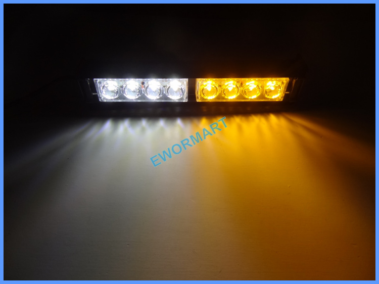 New 8 LED Strobe Flash Warning EMS Police Car Light Flashing Firemen Fog lamp best deal 1pcs light bar beacon strobe lightbar(China (Mainland))