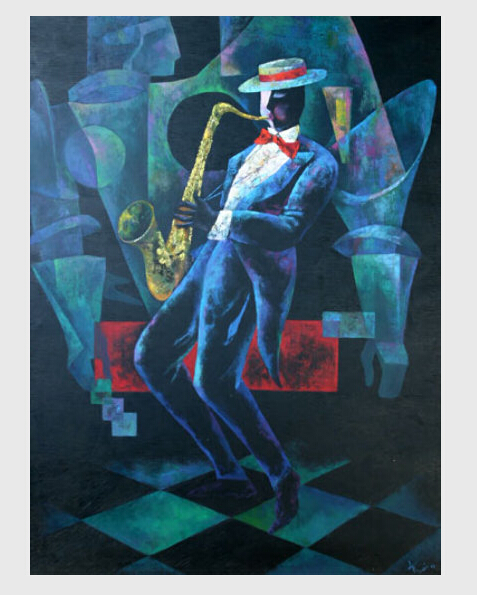 w wholesale jazz oil painting