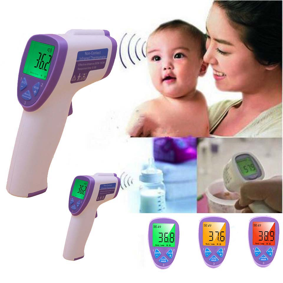 Child Non contact Infrared Body thermometer medical clinical forehead temperature for baby kids digital fever infant termometer(China (Mainland))