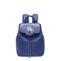 Famous Brand Fashion Small Rucksack Big Rhinestone Ornament Solid Color Women Drawstring Flap Designer MINI Backpack