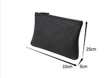 Kpop Fashion knitting women s clutch bag PU leather women envelope bags clutch evening bag Clutches