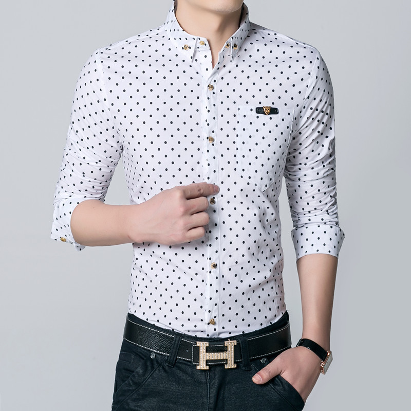 Dot shirt mens custom shirt for Mens polka dot shirt short sleeve