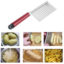 1pc Chip Dough Vegetable Carrot Blade Potato Crinkle Wavy Cutter Slicer Stainless kitchen accessories tools(China (Mainland))