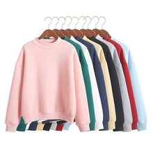 Hot Wholesale S001 New 2015 Harajuku Solid Slim Women Loose thickening Sweatshirt Hoody Spring Autumn Winter Pullover Streetwear
