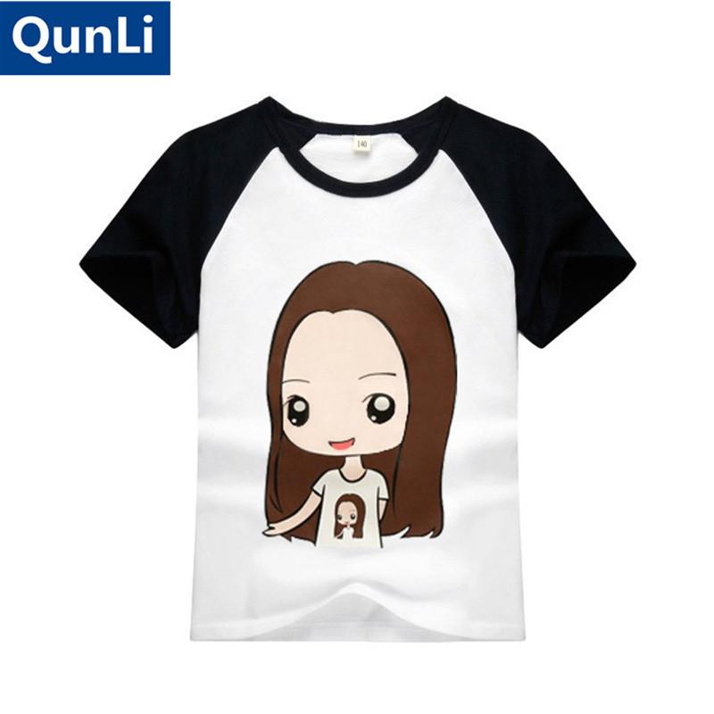 Pure cotton 2016 new boys and girls Kids short-sleeved summer T-shirt Pretty girl fashion boy child short sleeve T-shirt(China (Mainland))