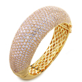 Big bracelet Bangles Europe and America style AAA white cz luxury Women Bangles fashion jewelry free