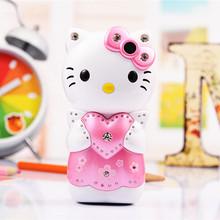 Cute Hello Kitty Power Bank Mobile Phone K689 Mini Bar Cell Phone Girl Phone Children Phone Gift Russian Language Keyboard