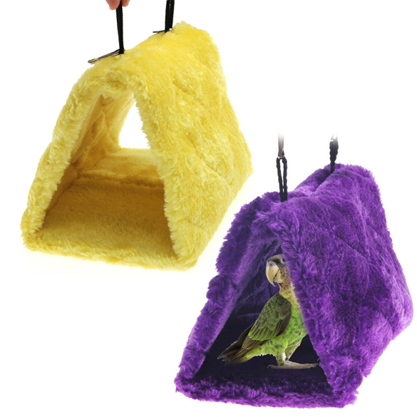 Hot Sale Purple Yellow Parrot Bird Nest Shed Hammock Fluffy Warm Bedroom Suspended Hut Pet Products Bird Supplies Cages C#RT(China (Mainland))