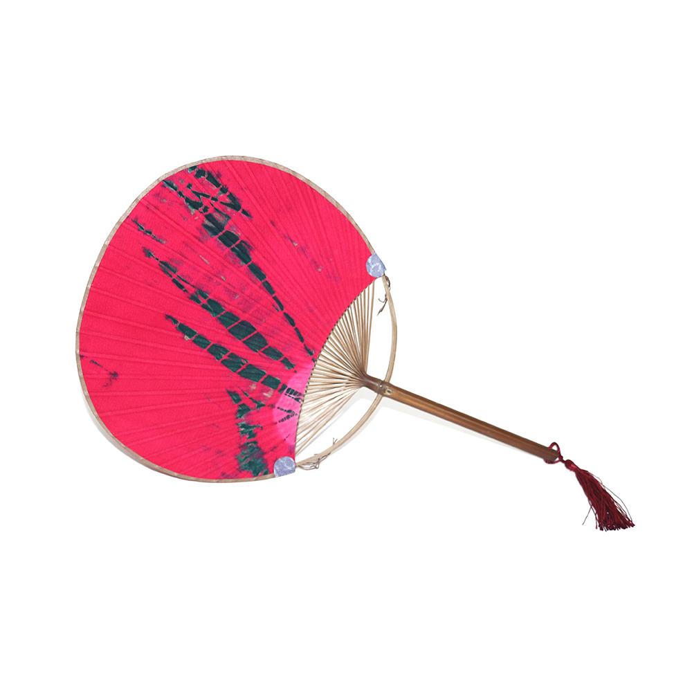 Oriental Cotton Fabric Print Decor Embroidery Handheld Round Hand Fan(China (Mainland))