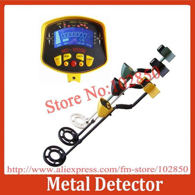 Brand New MD-3010II Ground Searching Metal Detector,Gold,silver,copper,aluminium detector with large LCD display