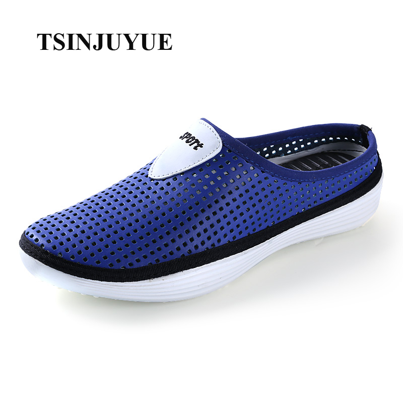 TSINJUYUE 2017 New Adult Breathable Slip-On Summer Solid PU Hollowed-Out Casual Loafers Mens Shoes(China (Mainland))