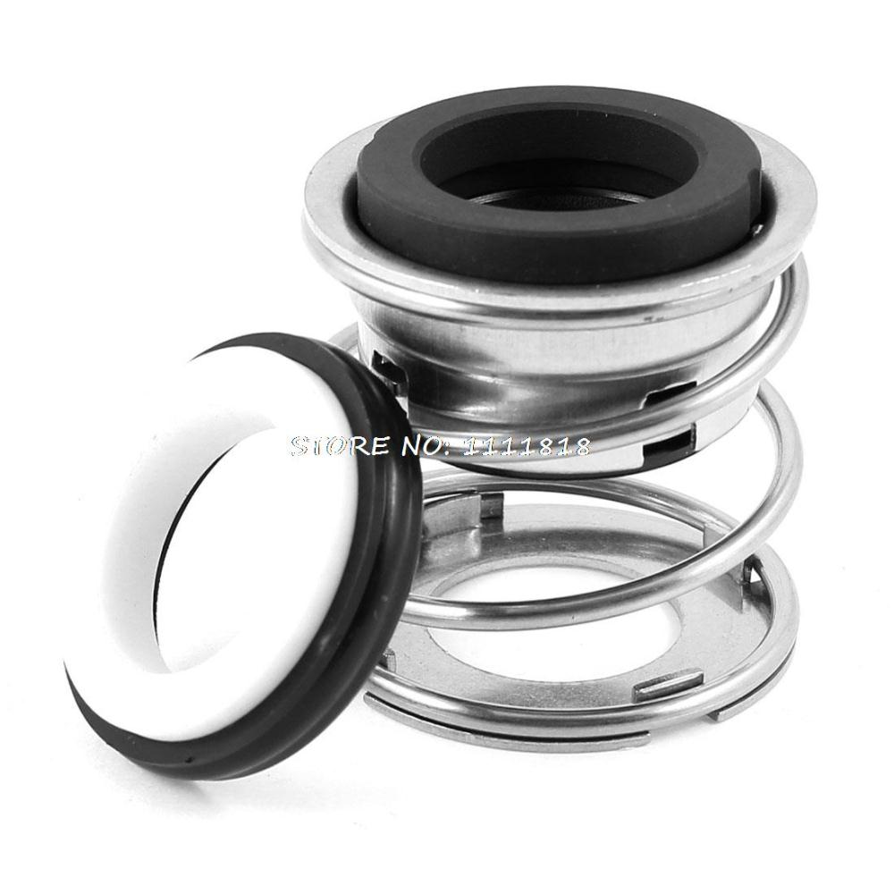 Single Coil Spring Water Pump Mechanical Shaft Seal 20mm Dia Black Silver Tone(China (Mainland))