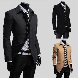 Special Offer Elegant Men Coat French Jackets Autumn And Winter Woolen Blend Outwear Turn-down Collar Casual Suit Warm Black HotОдежда и ак�е��уары<br><br><br>Aliexpress