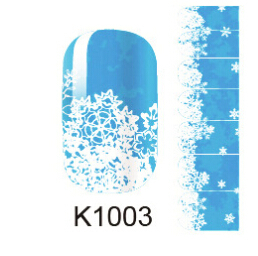 snowflake nail art sticker decorations beauty manicure full cover stickers for nails K1003 fingernail stickers ongles(China (Mainland))