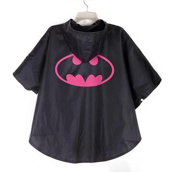 Kids superhero raincoat Batman child camping outdoors waterproof rain gear