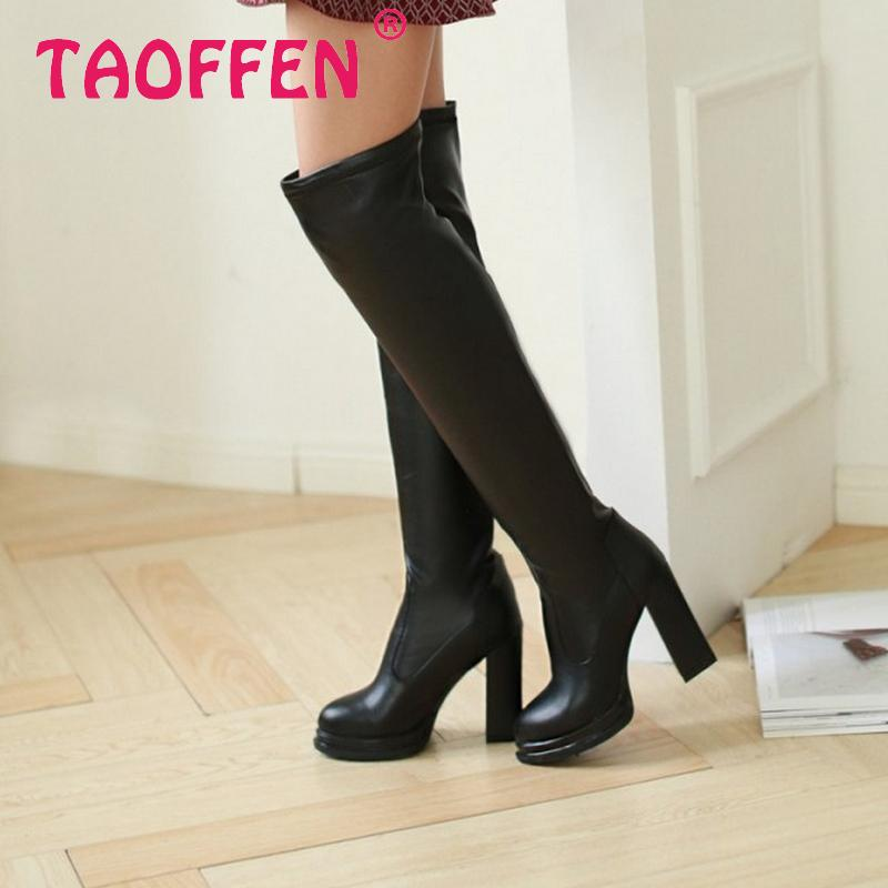 women over knee boots high heel fashion winter warm water proof riding long boot quality footwear heels shoes P20836 size 34-39<br><br>Aliexpress