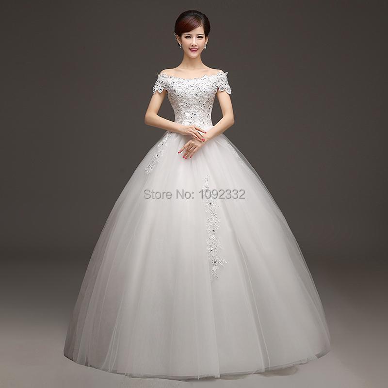 2016 Новый фонда свадебное платье плюс размер женщин свадебное платье Щель декольте кружево тонкий органзы принцесса с коротким рукавом A61