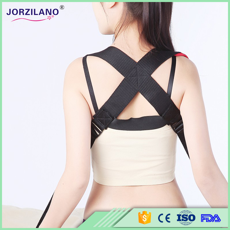 jorzilano Unisex Men Women's Posture Back Brace Support Belt Posture Corrector Correction Belt One Size Adjustable(China (Mainland))