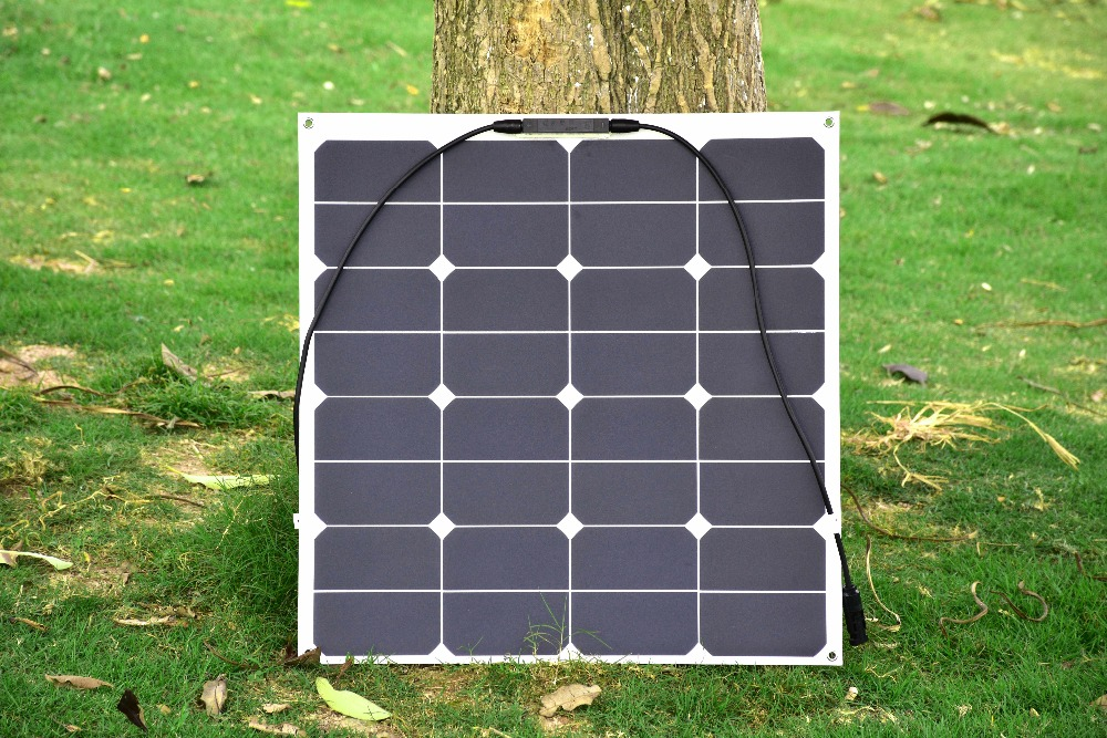 Solar panel 50w 2PCS wholesale, with frosted PET laminated, provide for 12v battery, 22% high effeiency USA Sunpower solar cell(China (Mainland))