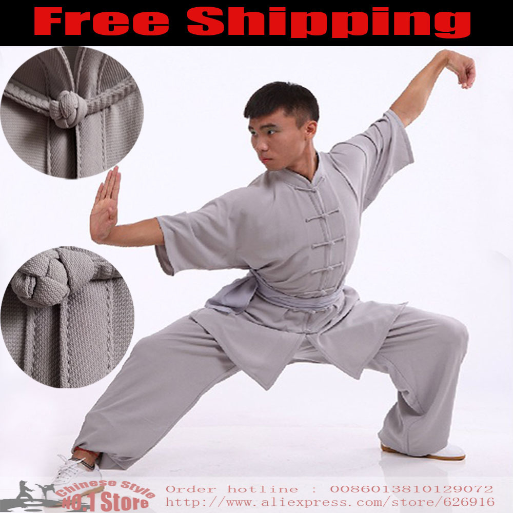 Customize Chinese Kung Fu Suit Tai Chi Clothing Martial Arts Outfit Linen Bruce Lee Wu shu Tai ...