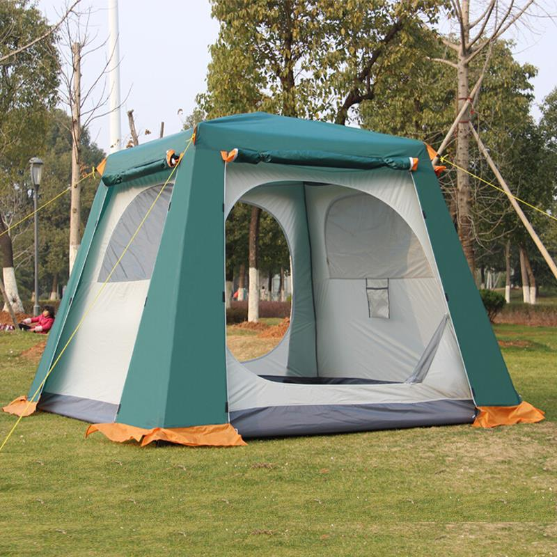 Camel camping tents, outdoor 4-6 people, camping tents, outdoor camping tents