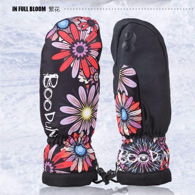 1 Пара Качество Зимняя термальная Лыжные Перчатки Водонепроницаемый/cool-устойчивых Сноуборд перчатки Мужчин/Женщин guantes для катания на лыжах/спорт