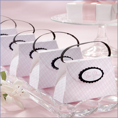 Free shipping 100pcs/LOT Wedding Favor box Pink Plaid Purse Favor Box(China (Mainland))