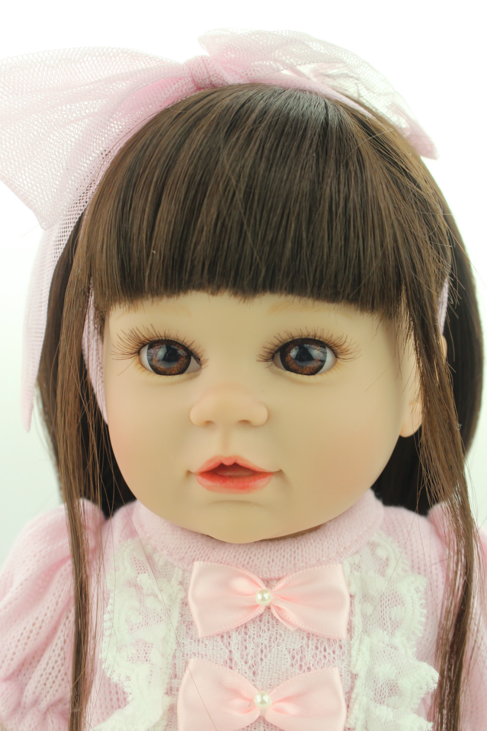 New model Style 16 inches Baby Doll Fat American Girl Design Reborn Living doll Soft Solid Silicone Toys(China (Mainland))