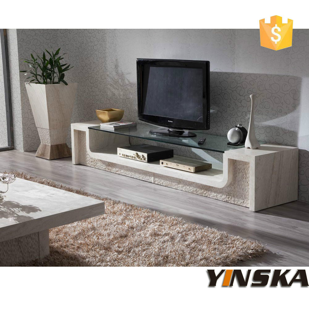 Modern Furniture Tv Cabinet Stone Marble Tv Stand For Living Room In TV Sta