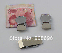 10Pcs Stainless steel DIY Groove Blank Money Clip Walle Ticket Holder Pocket Bill Cash Credit Card Case- Free Shipping(China (Mainland))