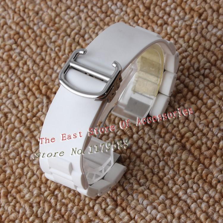 Выпуклые рот резиновые из нержавеющей стали , ремешок для часов 20 мм луг 10 мм ремешок раскладывающейся застежкой браслет специальные часы аксессуары