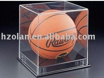 acrylic basket ball display case with black base display box 30x30x30cm acrylic box acrylic case acrylic display box(China (Mainland))