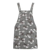 Donne di Autunno di estate Floreale Retro Vestito di Velluto A Coste 2019 Vintage Senza Maniche Vestito Da Partito casual Tasca Bretella Vestito Estivo Abiti(China)