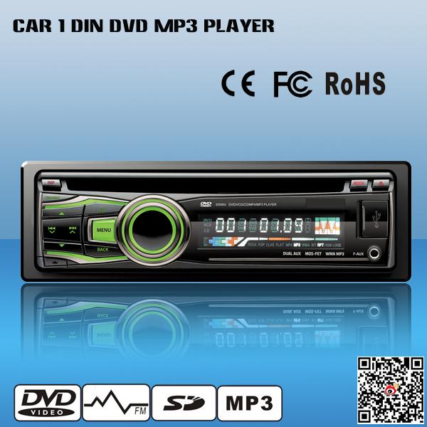 1 Din Car DVD MP3 Player Detachable Panel USB SD(China (Mainland))
