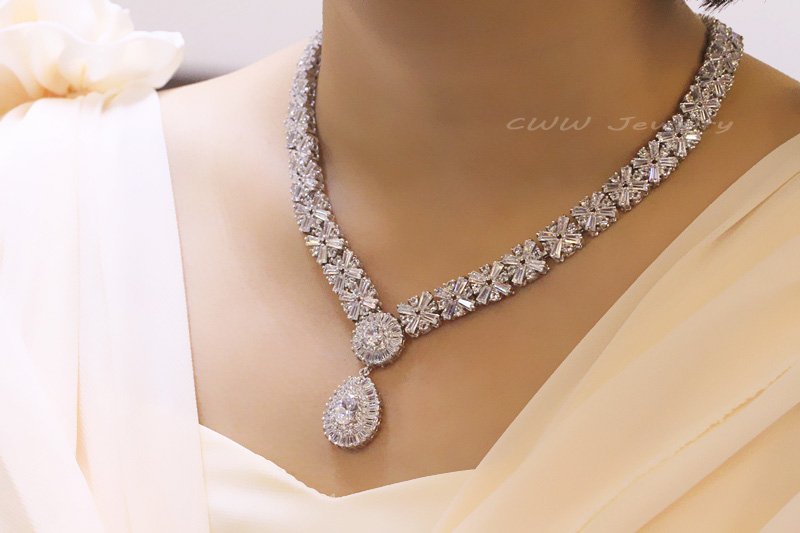 cz rose on design diamond micro necklace elegant gold latest detail new product buy pave big