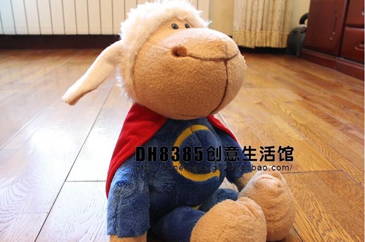 "14"" 35cm Free Shipping NICI Superman Sheep Plush Toys Stuffed Animal Baby Dolls Gift For Children(China (Mainland))"