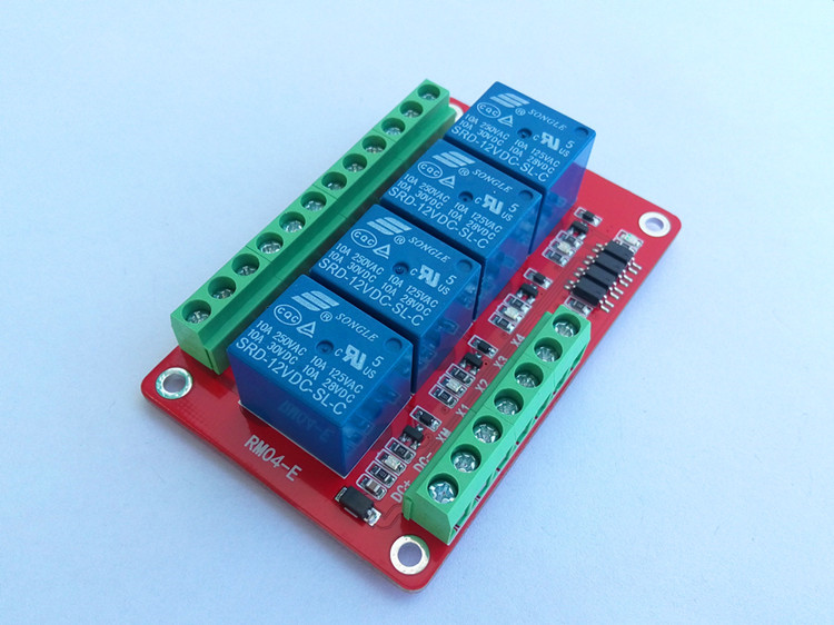 Free shipping   4 way relay module / expansion board / bidirectional coupler isolation level / optional optional 5/12/24V/<br><br>Aliexpress