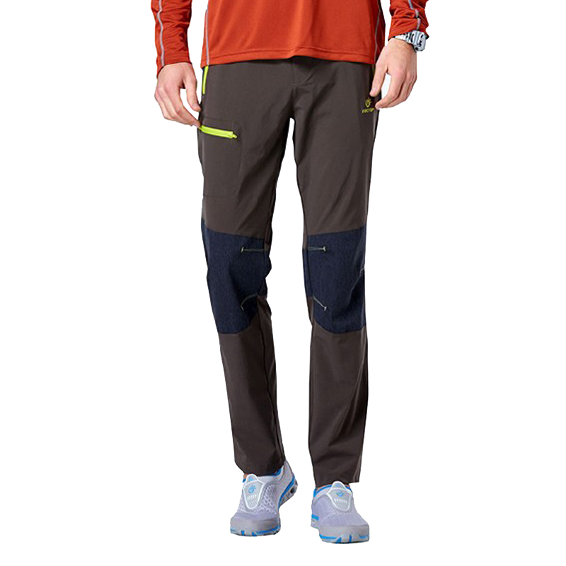 TECTOP Men Waterproof Quick Dry Pants Multicolor Patchwork Softshell Pants Fishing Hiking Trousers UV Protection PS5045