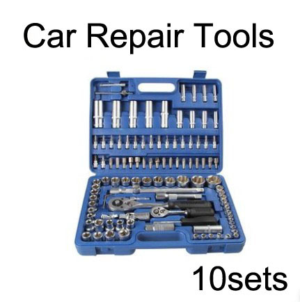 108PCS  wrench tool set hand tools for car/machine repair  wholesale/retail car tools kit set 10sets<br><br>Aliexpress