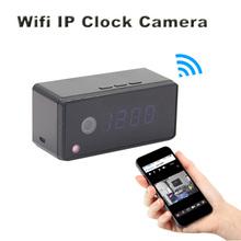 Wirless Alarm Clock Camera 1080P 720P Wifi IP Mini Camera Infrared Night Vision Table clock Camera Micro Real Clock Video Camera(China (Mainland))
