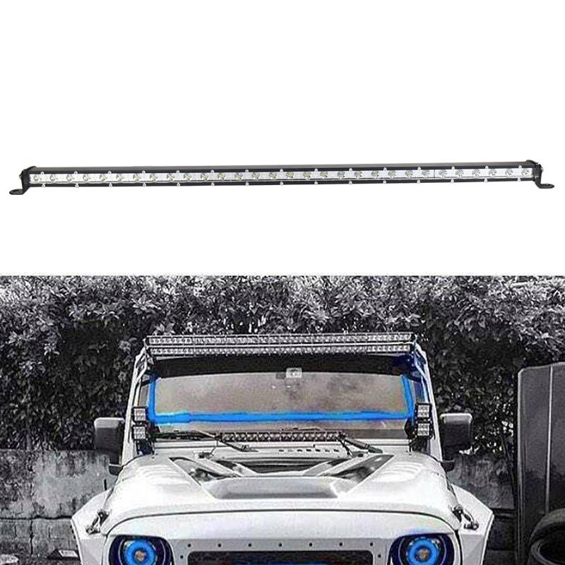 Super slim led bar cheap 32inch 90W led off road light bar single row spot flood light 10-30v for car accessories(China (Mainland))