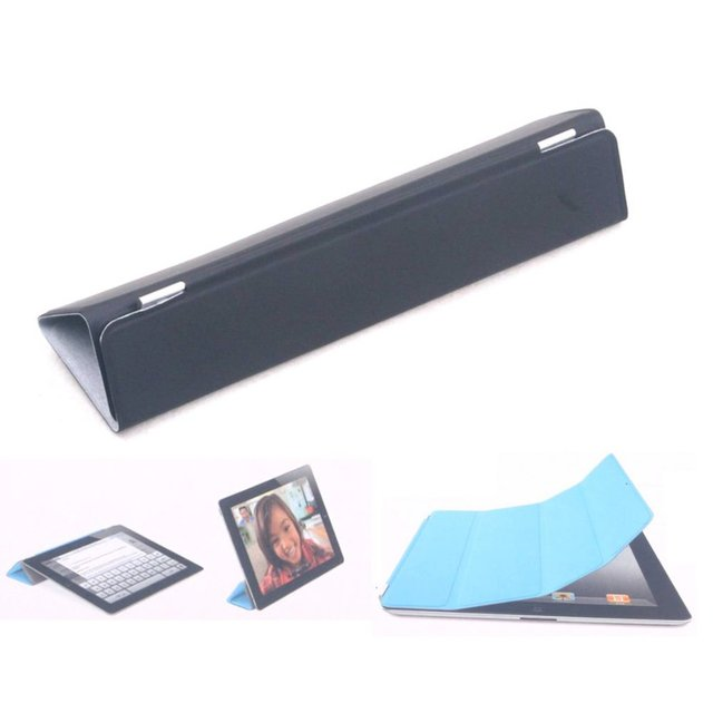 Fashion Flexible Table PC Cover Stand For Apple iPad 2 iPad 3 Ultra Stylish PU Leather Black Case