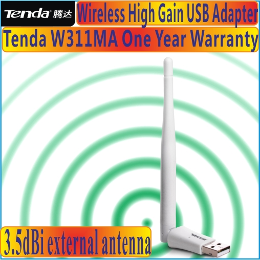 Tenda W311MA 150Mbps Wireless N USB Adapter Network Adaptor with one external antenna, Supports soft AP, Free&shipping, Prom-(China (Mainland))