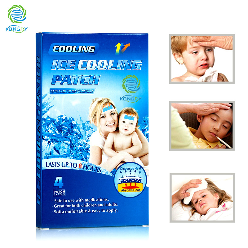 Fast acting cooling gel patch for baby fever,5x12cm headache relief ice pad,first aid adhesive cooling plaster<br><br>Aliexpress