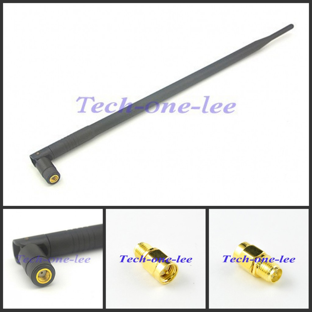 698-960/1700-2700Mhz 4g lte Aerial 4G 9dB RP SMA Male Connector LTE Antenna + Adapter SMA male to RP SMA female male pin(China (Mainland))